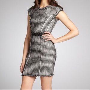Rebecca Taylor Black Tweed Shift Work/Office Dress